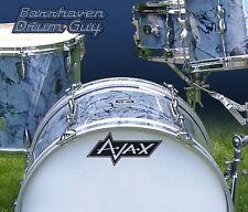 Ajax, Vintage, Repro Logo - Adhesive Vinyl Decal, for Bass Drum Reso Head