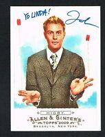 John Higby #249 signed autograph auto 2009 Topps Allen & Ginter's Card