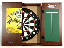 Dart Board Set NED KELLY Bushranger Cabinet AND TX100 Dart Board + 6 x Darts.