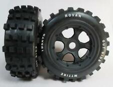 Knobby Tyres on 5 Spoke Wheel Set fit Front 5T SC PRC KM Rovan* F&R LT Losi DBXL