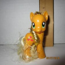 Glitter Applejack My Little Pony G4 Friendship is Magic Brushable Figure Tinsel
