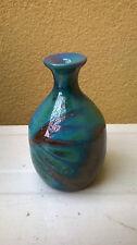 Vintage Italian vase vaso ceramica studio raku pottery signed firmato Mazza