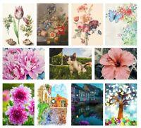 Full Drill Art 5D Diamond Painting Kits Cross Stitch Embroidery Cat Flowers Kids