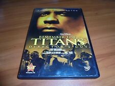 Remember the Titans (DVD, 2006 Widescreen Extended) Denzel Washington Used