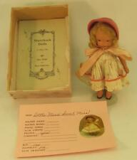 Nancy Ann Bisque Storybook Doll Little Miss Sweet Miss  #110 w/ Box and pamphlet