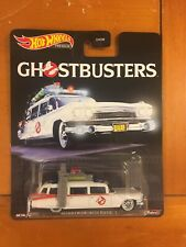 Hot Wheels Premium Retro Entertainment Ghostbusters Ecto-1Real Riders BRAND NEW