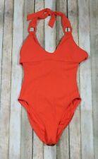 Robin Piccone Kate Halter One Piece Swimsuit Size 6 Orange U Neck Buckle