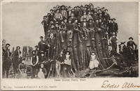 Pedro WA Cedar Stump People Sitting Lowman Hanford c1906 Postcard E58