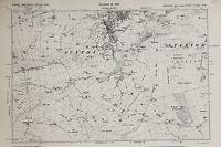 West Yorkshire Map - Ordnance Survey Emergency Ed 1938 - Sutton, Steeton
