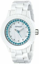 NEW SPROUT WHITE CORN RESIN+MOP+CRYSTAL+BLUE DETAILS DIAL WATCH ST/6504MPBL