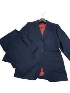 George Bespoke Tailored Wool Suit 3 Pieces in Navy M MEDIUM