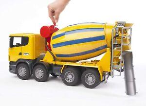 BRUDER  03554  Camion toupie à béton bétonnière SCANIA R-serie  Jaune 1/16
