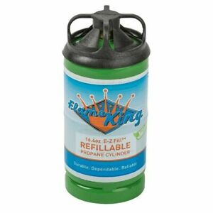 One (1) Refillable Flame King 1lb (16oz) Propane Cylinder. Save the Landfills!!!