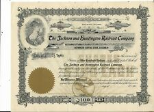 190_ Jackson and Huntington  RR Stock Certificate