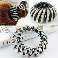 Women Crystal Rhinestone Hair Clip Claw Clamp Hair Comb Ponytail Holder Hairpin