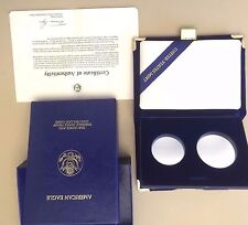 Box & COA For US 1987 Constitution Coins $25 & $50 Gold -NO COINS MAKE OFFER
