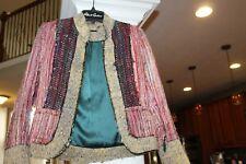 Matthew Williamson silk blend Patchwork Boho Blazer Jacket sz 10 US sz 6 (b139)
