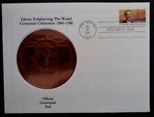 1985 United States Statue of Liberty Centennial FDC ties 22c stamp canc New York