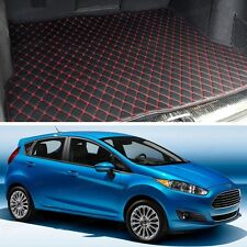 Premium Car Trunk Mat Leather Waterproof Fit for 2009-2016 Ford Fiesta Hatchback
