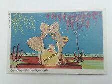 Cartolina Pubblicitaria Sacchetti Carta Goglio Rho Milano Serie Pierot 6