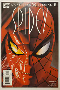 Universe X: Spidey #1 (2001, Marvel) NM- Recalled Slander Version Al Milgrom