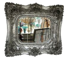 Mirror wall mirror 65x72cm silver ornaments roses antique style mirror