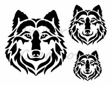 """""""WOLF FACE"""" Coyote Wild Dog Animal 8.5"""" x 11"""" Stencil Plastic Sheet NEW S53"""