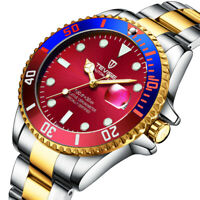 Tevise Luxury Automatic Watch Men Stainless Steel Mechanical Watches Calendar
