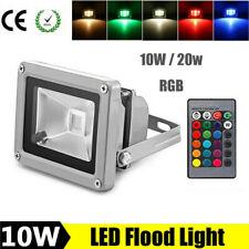 10/20W Outdoor Waterproof LED RGB Flood Light Landscape Spot Lamp Remote Control