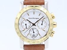 Girard Perregaux Chronograph GP 7700 18K Gold and Steel Quartz Unisex