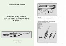 Ljungman c1958 Automatgevar M42B Swedish Semi-Auto Rifle Manual