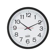 "Staples Wall Clock Plastic 14"" Dia. (18380) 812295"