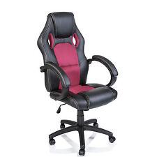 TRESKO® Sedia da ufficio girevole per casa Poltrona ufficio Racing Rosa