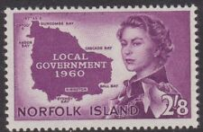 1953 Norfolk Island QEII 2'8 Government  MH / Mint Hinged