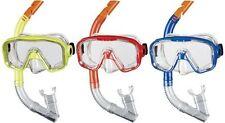 BECO Schnorchel-Set Taucherbrille Schnorchel Kinder Bahia 12+ gelb / rot / blau