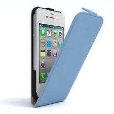 Tasche für Apple iPhone 4 / 4S Flip Case Schutz Hülle Handy Cover Hellblau