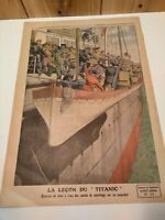 "Le Petit Journal June 1912 issue rare  ""The Lesson of the Titanic"" ad French"