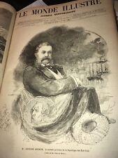 85 Journeaux Monde Illustré 1881 1882 Grévin Hugo Panama Hetzel Monuments PARIS