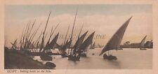 EGYPT - Cairo - Sailing boats on the Nile - L.Scorztis e Co