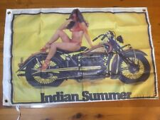 Biker USA Indian motorcycle scout cheif classic vintage motor bike  Mancave flag
