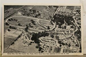 Scenic Van Wert County Race Track Aerial Postcard Old Vintage Card View Standard
