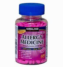600 ct Kirkland ALLERGY MEDICINE - Diphenhydramine -HCI 25mg Compare to Benadryl