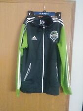 Adidas Seattle Sounders Gray Green ClimaLite Jacket Medium Made in 2012