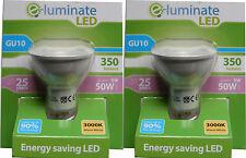 2 SPOT LIGHT LED BULBS GU10 5W (50W Equiv) WARM WHITE 3000K LED SPOTLIGHT BULBS