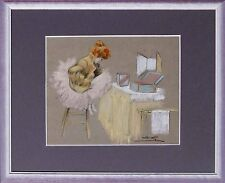 Französischer Maler- signiert - Impressionist-Tänzerin Pause Theater   xx