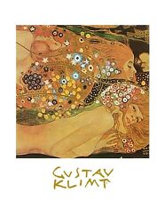 Gustav Klimt Die Wasserschlangen Poster Kunstdruck Bild 30x24cm - Portofrei