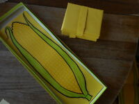 Eatons Lend an Ear Vintage 70's 60's Stationary Yellow Corn Letter Notes Groovy