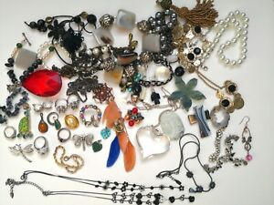 Job Lot Bundle Mixed vintage Jewellery 925 silver. upcycling craft project