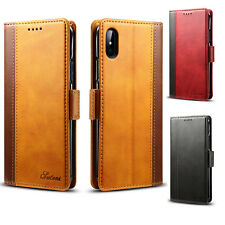 For iPhone XS  Magnetic Leather Wallet Card Slot Folio Stand Case For Apple