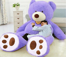 "Giant Huge Jumbo 93"" purple Teddy Bear Gigantic Gift Stuffed Plush Animal Toy UK"